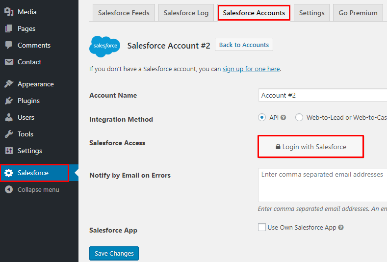 Salesforce Connection