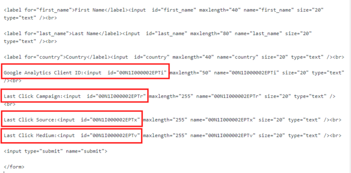 Salesforce web-to-lead code 3
