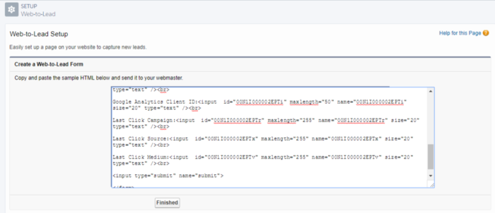 Salesforce web-to-lead code
