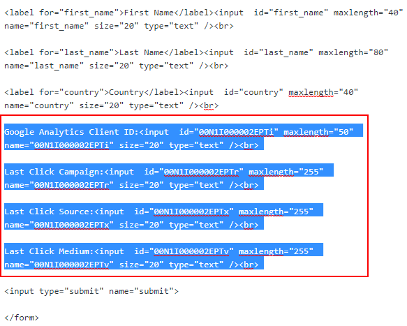 Salesforce web-to-lead code 2