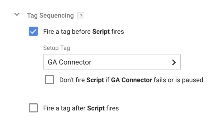 Tag sequencing