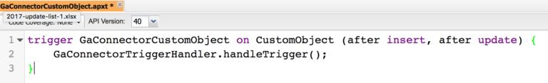 Paste Trigger code