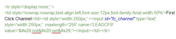 Zoho webform example