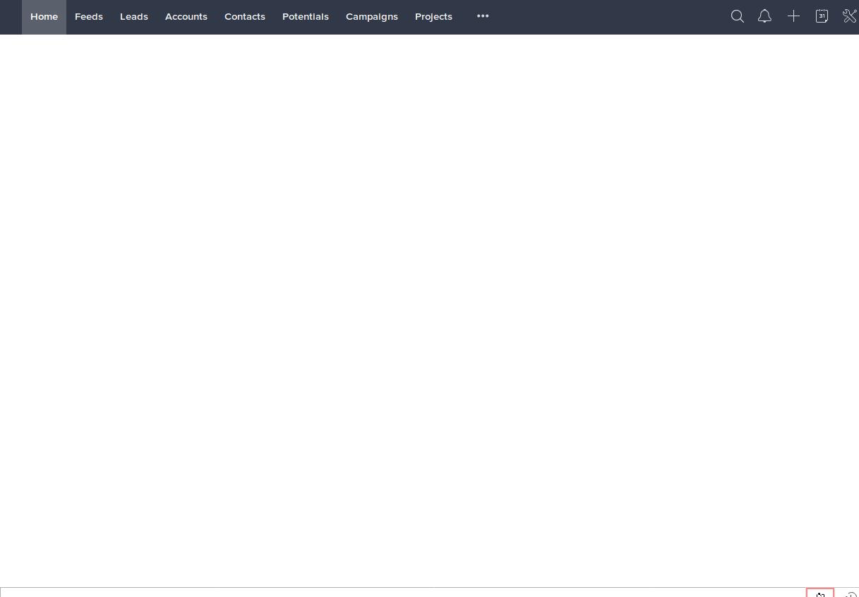 Zoho CRM Blank Screen