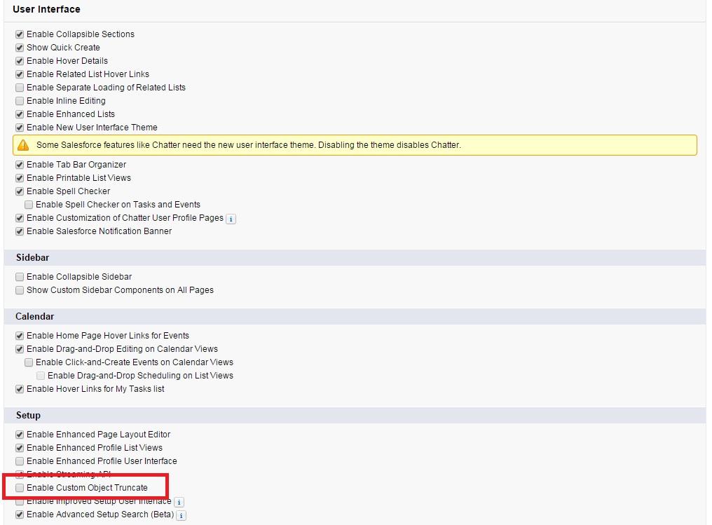 Custom Object Truncate Salesforce