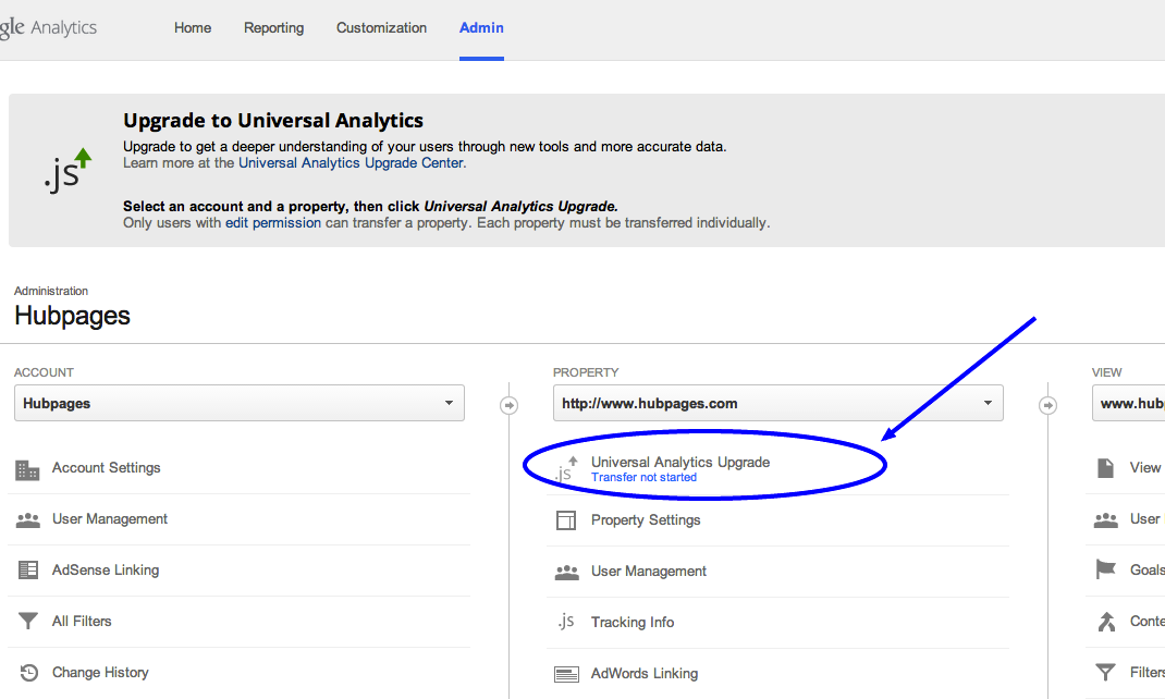 Universal Analytics upgrade